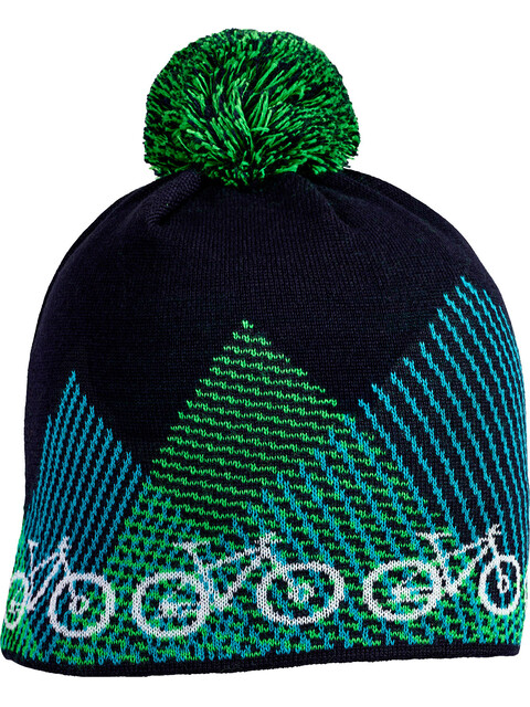 Cube Bike Bommel Beanie blue'n'green
